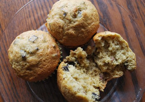 Banana Muffins with Kahlua and Dark Chocolate Chunks – Claire ...